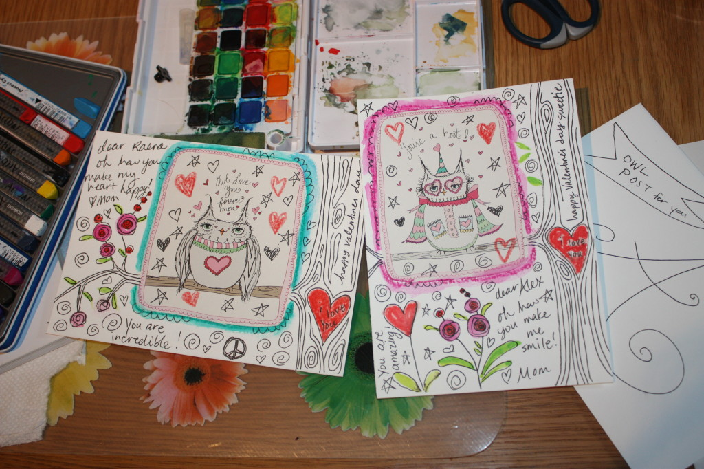 owl valentines from a fanciful twist