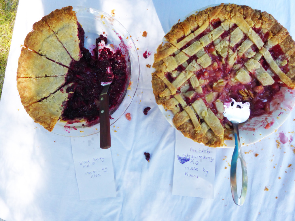 we celebrated the harvest with a pie party