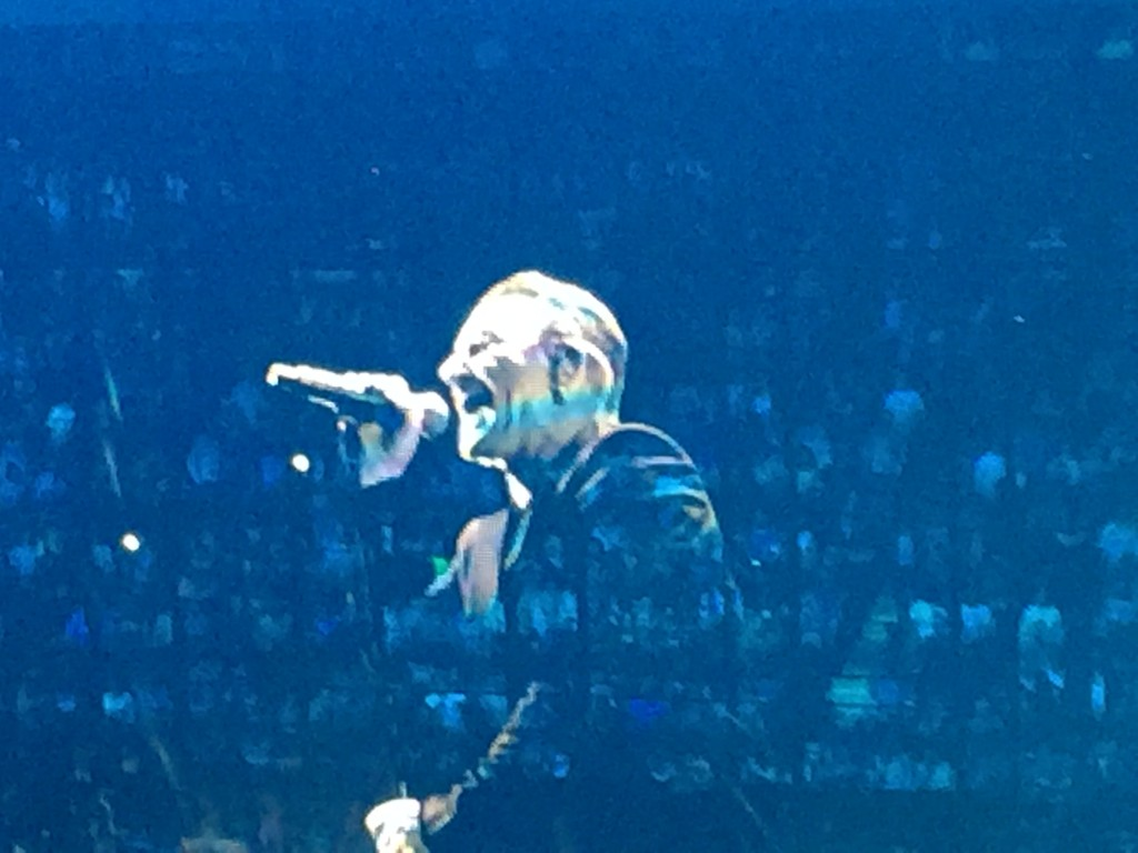 Bono sang his heart out for almost  two and a half hours