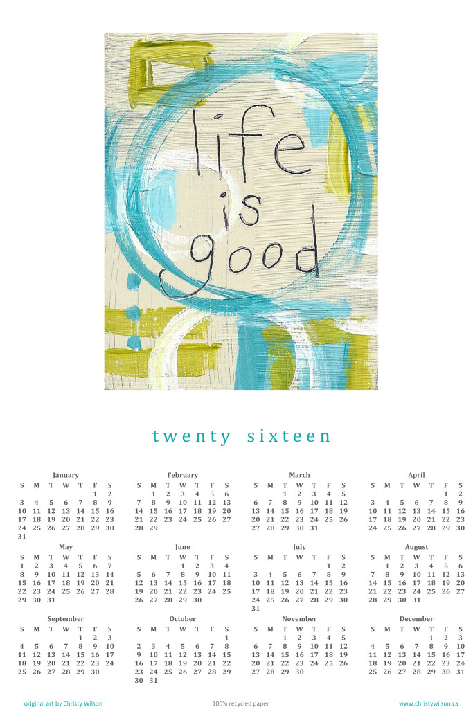 Life is Good 2016 Year-At-A-Glance Calendar