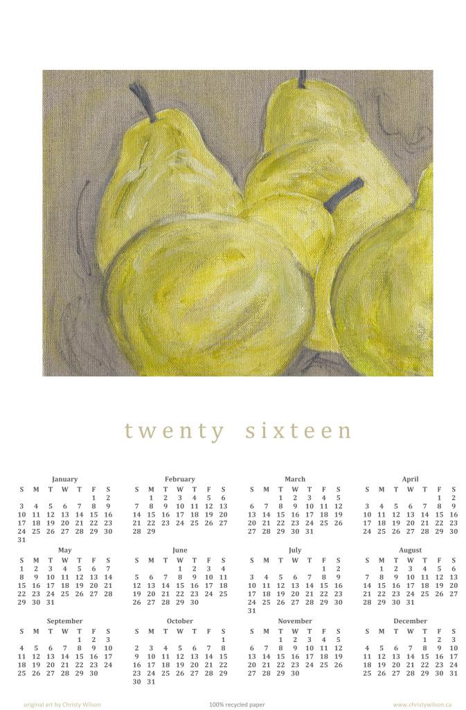 2016, a pear-fect year