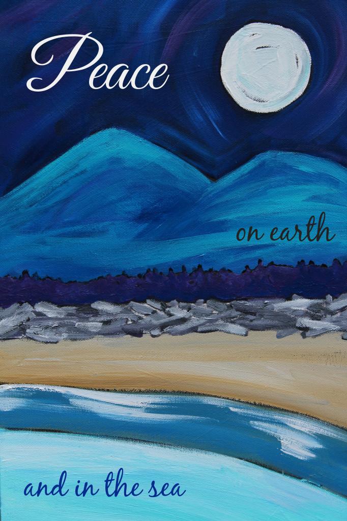peace on earth card large peace