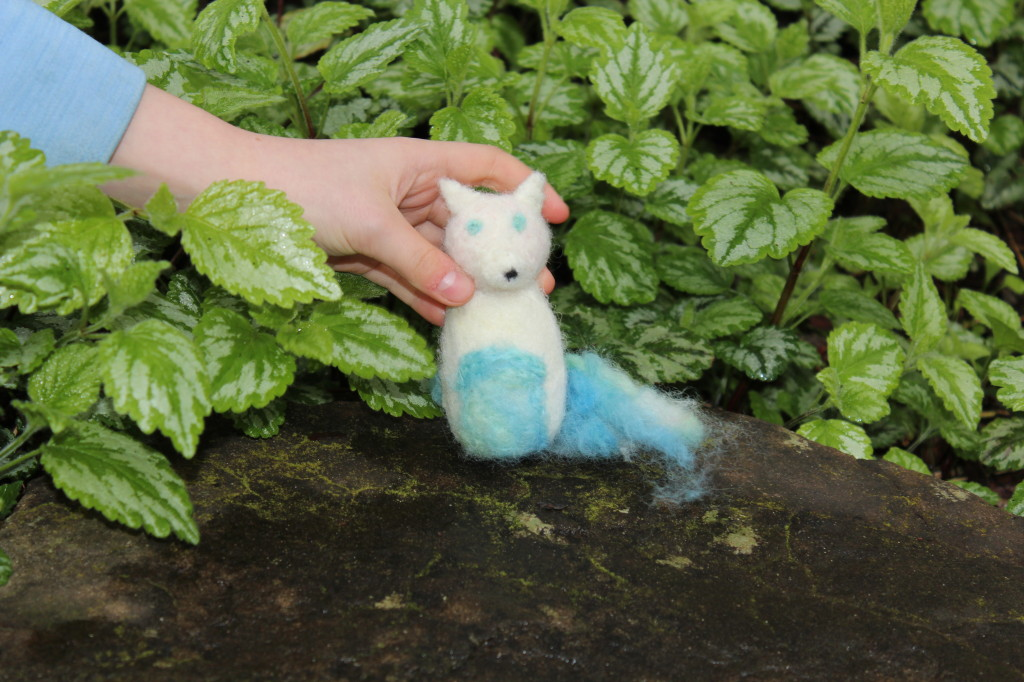 needlefelted fox made with love by my girl