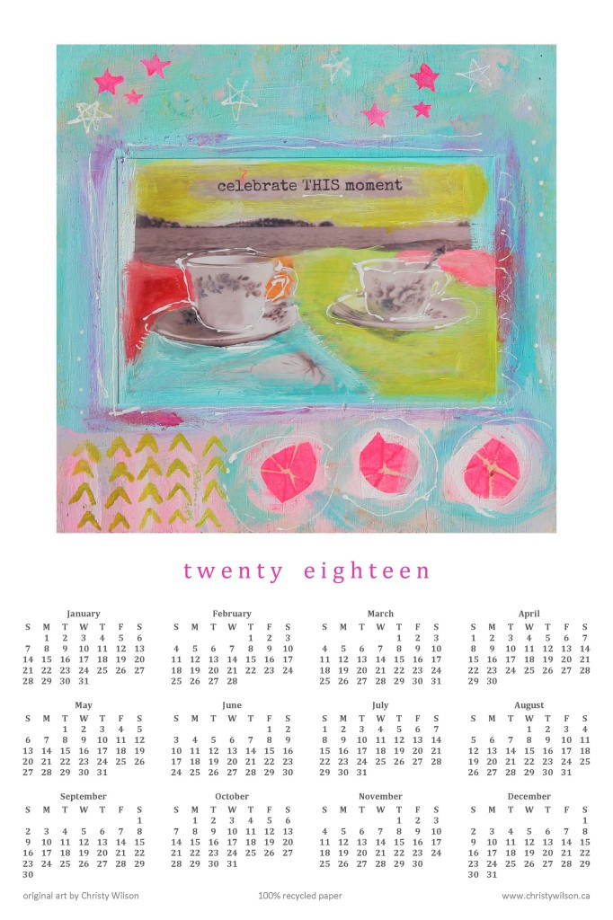 2018 at a Glance 12x18 tea at the beach